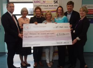 AirconMech 5k Step in the Right Direction in aid of MRI Scanner at Wexford General Hospital. Cheque presentation to Friends and WGH