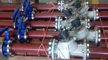 Pre-fabricated pipework and values for Chiller Unit