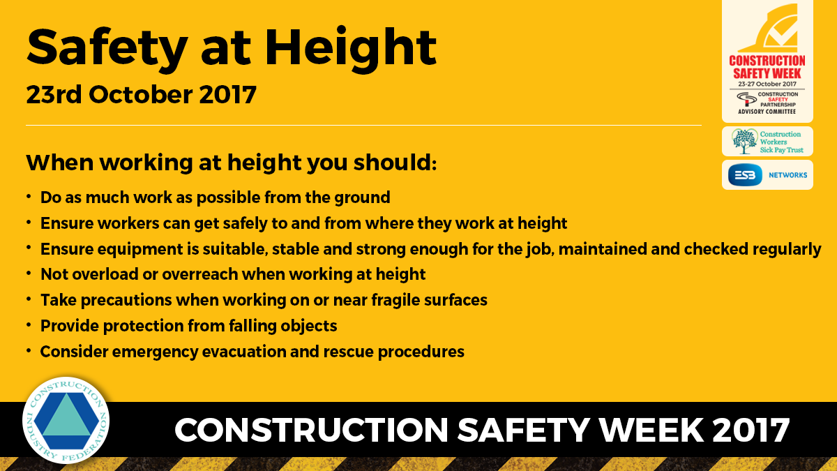 Construction Safety Week Working At Height Message 3