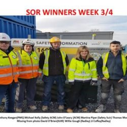 ohn O leary wins Breakfast voucher for H&S Observation on Project Topaz